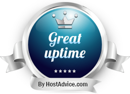 HostAdvice Great Uptime Award for NameHero.com